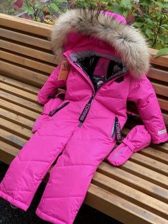 Tomas, зимний комбинезон для девочки (бубль гум - ярко розовый)