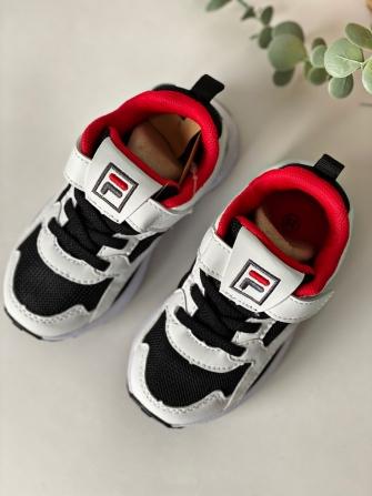 Кроссовки для мальчика (чёрные с красным акцентом)
