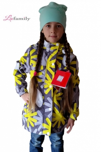 Куртка-парка  для девочки на флисе Lime Flower
