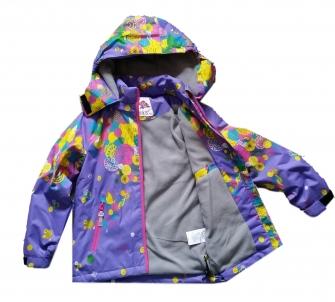 Куртка для девочки демисезонная лиловая