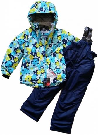 Комплект зимний для девочки Blue Flower
