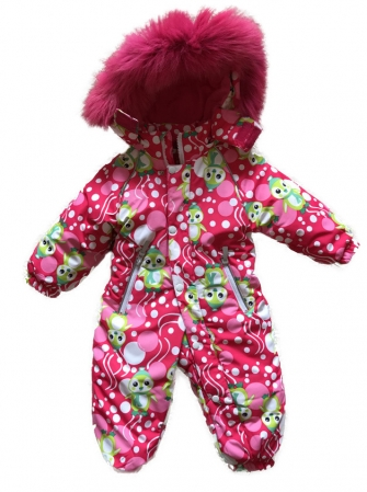 "Jie Reimo,комбинезон для девочки зимний ""Pink pinguin"""