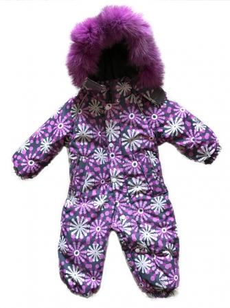 """Комбинезон для девочки зимний """"Purple snowflake"""""""