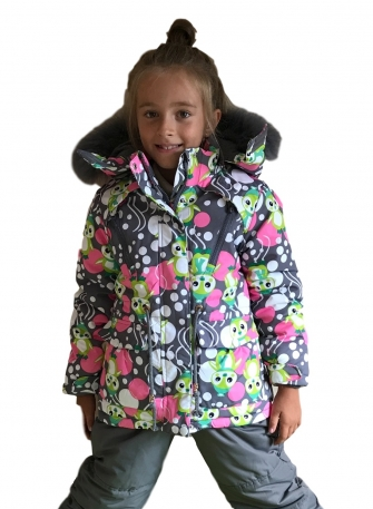 "Комплект зимний для девочки ""Grey Pinguin """