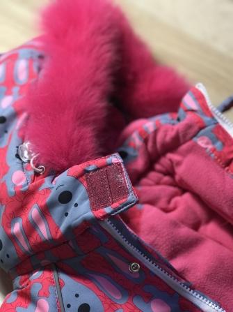 """Jie Reimo, комбинезон для девочки зимний """"Pink rabbit"""""""