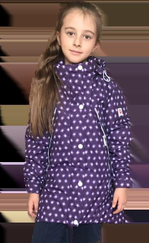 Jie Reimo, пальто демисезонное Purple