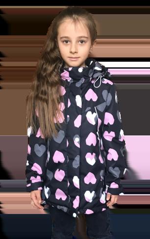 """Jie Reimo, пальто демисезонное для девочки """"Сердце"""""""