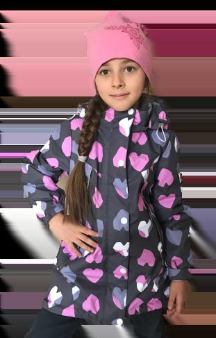 "Jie Reimo, пальто демисезонное для девочки ""Grey Heart"""