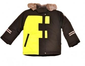 Foxi, куртка зимняя для мальчика FF, цвет-черный