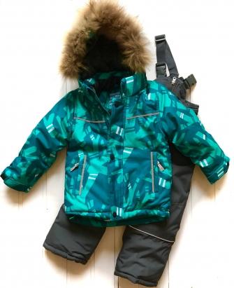 Костюм зимний для мальчика (цвет лазурный)