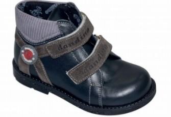 Dandino, полуботинки для мальчика (черные с серым)