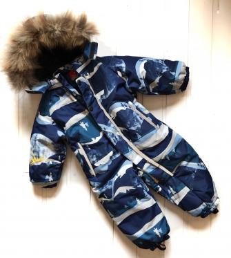 Комбинезон зимний для мальчика  ( цвет синий)