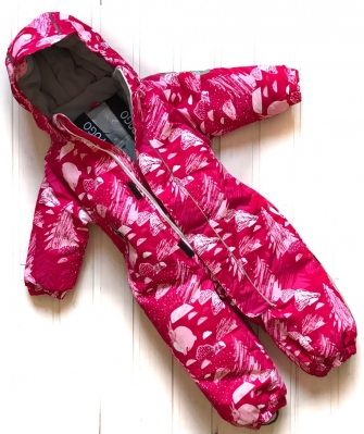 Super POGO Tec, комбинезон зимний для девочки  ( Rabbit pink)