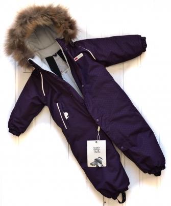 POGO Tec, комбинезон зимний с меховой опушкой ( цвет фиолетовый)