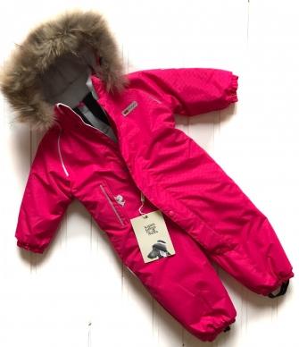 POGO Tec, комбинезон зимний с меховой опушкой ( цвет малиновый)