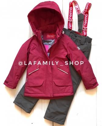 Jie Reimo, комплект демисезонный (c удлиненной курткой) Н614 цвет бордо