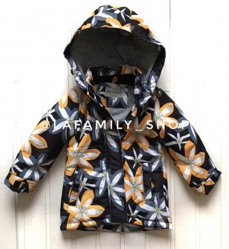 Пальто для девочки демисезонное В8862 (желтый)