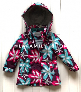 Пальто для девочки демисезонное В8862 (бордо)