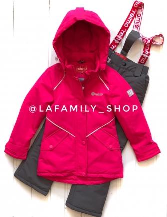 Jie Reimo, комплект демисезонный (с удлиненной курткой)  Н616 цвет-розовый неон