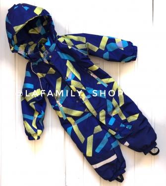 Комбинезон демисезонный для мальчика арт 9617 (синий/желтый)