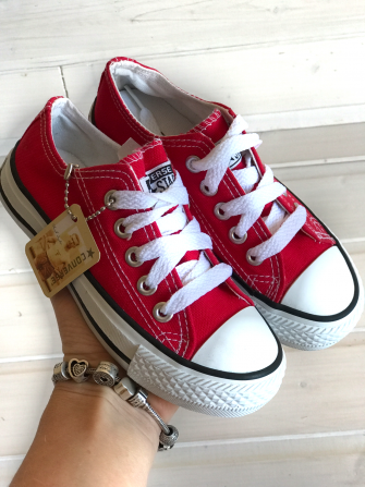 Converse, кеды детские красные