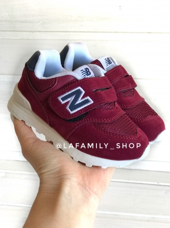 NB, кроссовки детские на сетке ,   цвет - (бордовый)