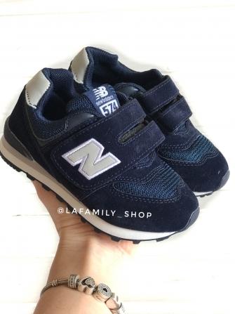 Nb, кроссовки детские сетка ,  цвет - (синий/белый)