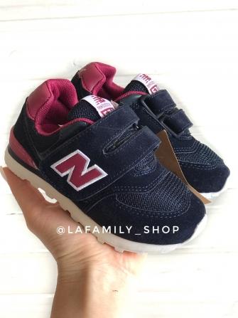 Nb, кроссовки детские сетка ,  цвет - (синий/бордовый)