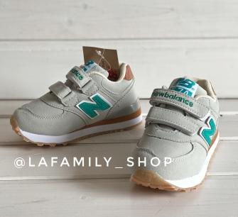Nb, кроссовки детские с 2-мя липучками ,  цвет - (серый)