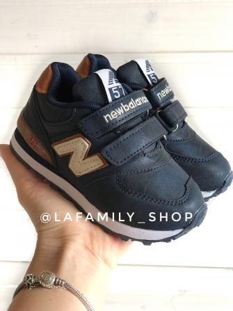 Nb, кроссовки детские с 2-мя липучками ,  цвет - (синий)