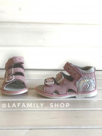 Капитошка, сандалии для девочки (розовый)