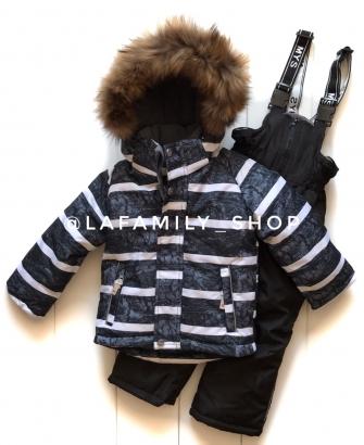 Mys, костюм зимний для мальчика (цвет черный)