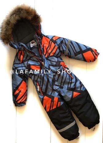 Mys, комбинезон зимний для мальчика (оранжевый)