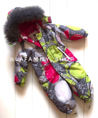 Mys,  зимний комбинезон  для девочки(серый)