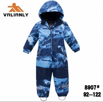 Valianly, зимний комбинезон для мальчика (голубой)