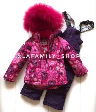 Mys , комплект зимний для девочки Астры «бордовый»