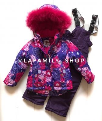 Mys , комплект зимний для девочки Астры «фиолетовый»