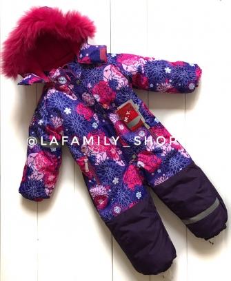 Mys, комбинезон зимний для девочки астры «фиолетовый»