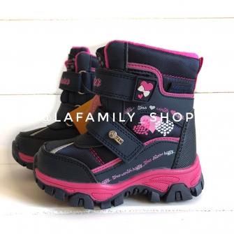 Ботинки зимние для девочки (синие) арт 3934