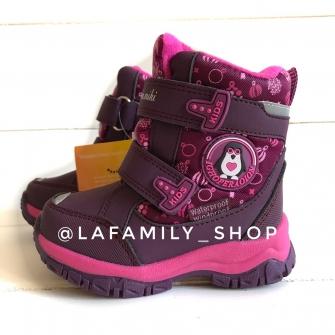 Ботинки зимние для девочки (бордовые ) арт 3979