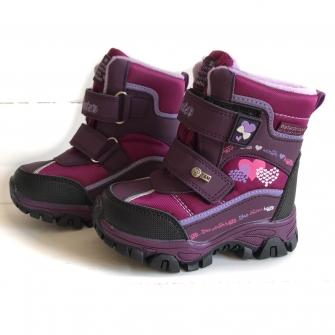Ботинки зимние для девочки (бордо) арт 3934