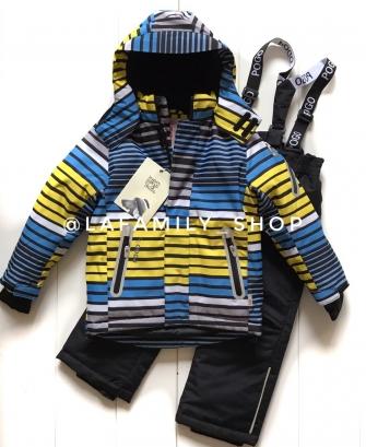 PogoKids, костюм зимний для мальчика арт 88837 (желтый)