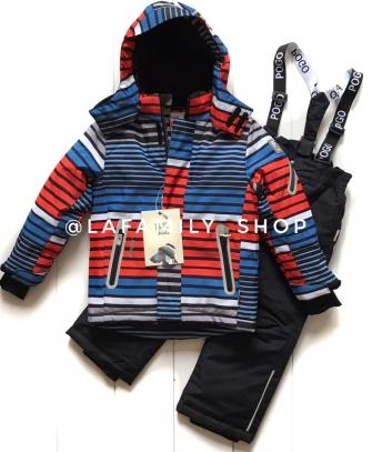 PogoKids, костюм зимний для мальчика арт 88837 (оранжевый)