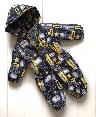 Комбинезон демисезонный для мальчика «маленький робот»