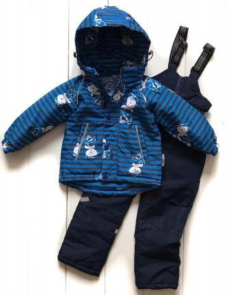 Комплект  демисезонный для мальчика «коты» цвет синий