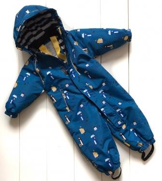PogoKids, комбинезон демисезонный «домики»  ( цвет blue)
