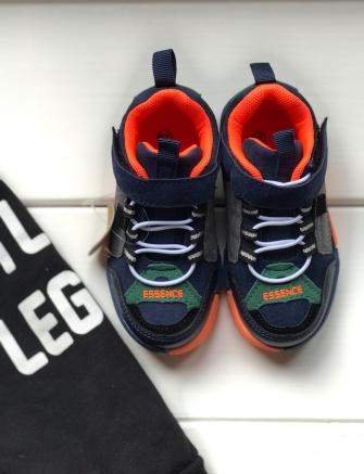 Кроссовки для мальчика, цвет (оранжевый), 31-36