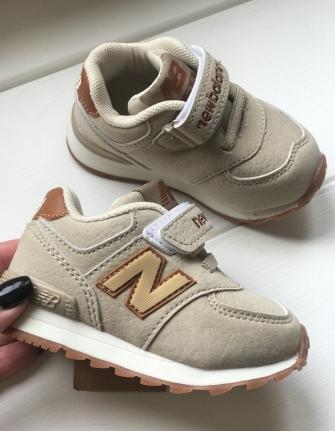 NB, кроссовки детские  ,   цвет - (бежевый )