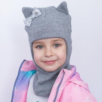 """Шлем """"Кошка"""" трехслойный. Цвет серый"""