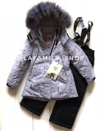 PogoKids, костюм зимний для девочки арт 88841 (серый)